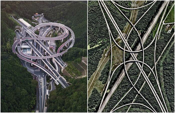 Такие транспортные развязки запутают любого автомобилиста и выведут из строя навигатор (Токио, Флорида).