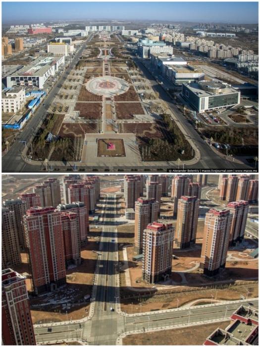 Современному городу так и не суждено было стать миллионником (Kangbashi, Китай).