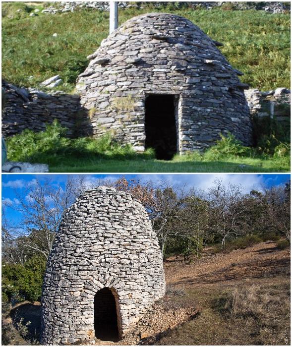 Ирландские монахи-отшельники строили себе каменные убежища под названием клочан.