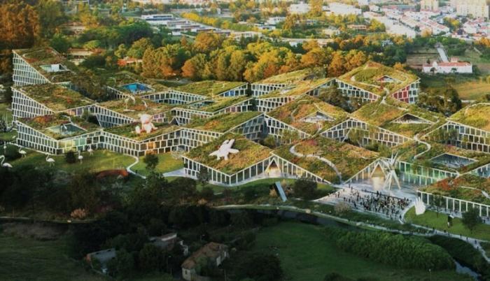 В пригороде Порту планируют построить «умную» деревню (концепт Fase Valley). | Фото: skyscrapercity.com.