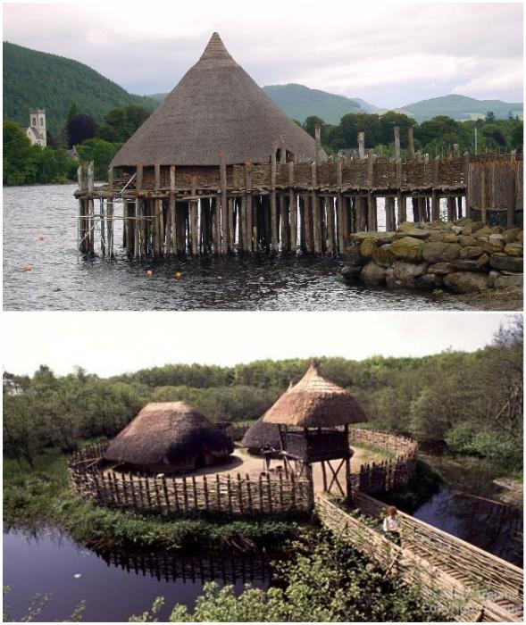 Ирландцы строили свои дома на высоких сваях или на острове, в окружении воды (кранног).