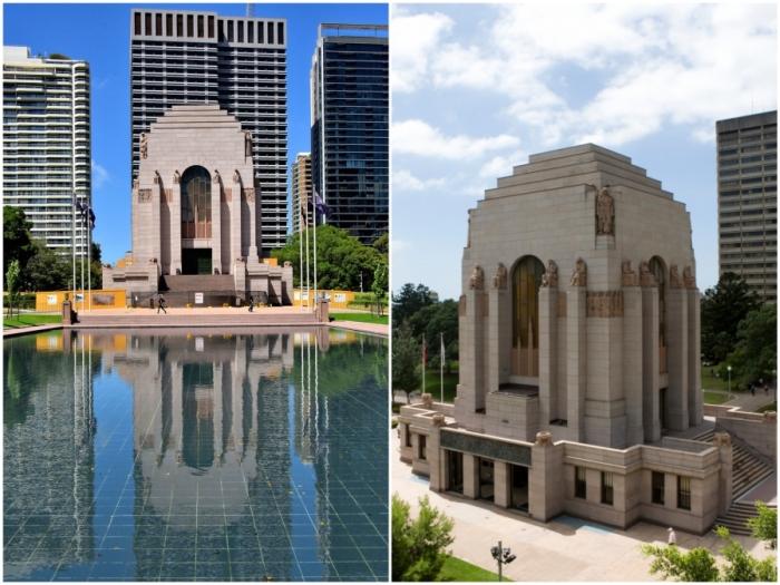 Мемориал ANZAC – драматичный памятник австралийским имперским силам Первой мировой войны, выполненный в стиле ар-деко (Сидней, Австралия).
