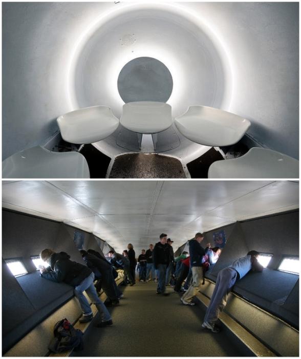 Экзотический лифт доставит на вершину арки, откуда открывается захватывающий вид на Сент-Луис и живописные окрестности (Gateway Arch in St. Louis, США).
