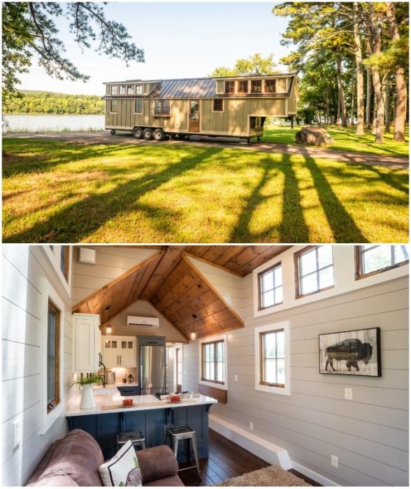 Американская фирма Timbercraft Tiny Homes представила мобильный дом, площадь которого может перещеголять малогабаритную двухкомнатную квартиру (Denali XL).