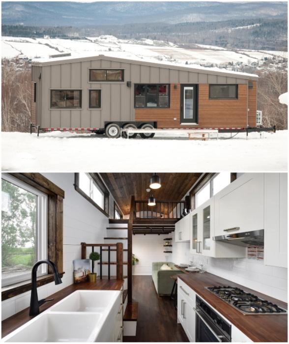 Мобильный дом Noyer XL от канадского производителя Minimaliste Team может похвастаться совсем не крошечными размерами.