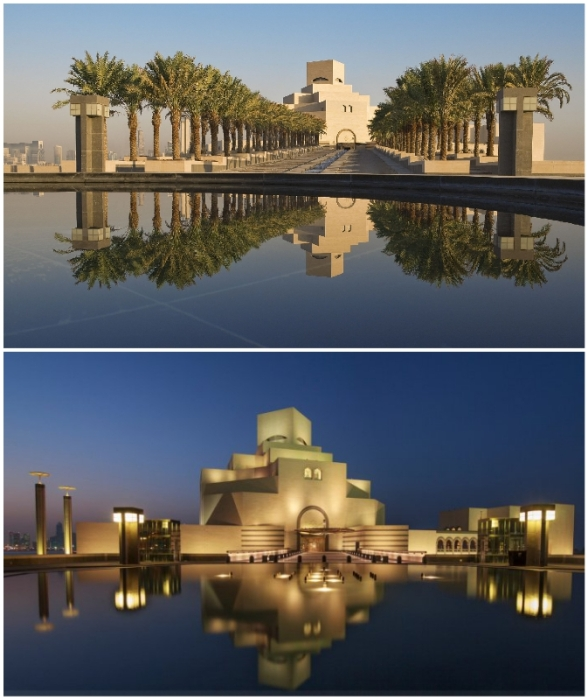 Таинственный мир исламского искусства прячется за стенами этого неординарного сооружения (The Museum Of Islamic Art, Катар).