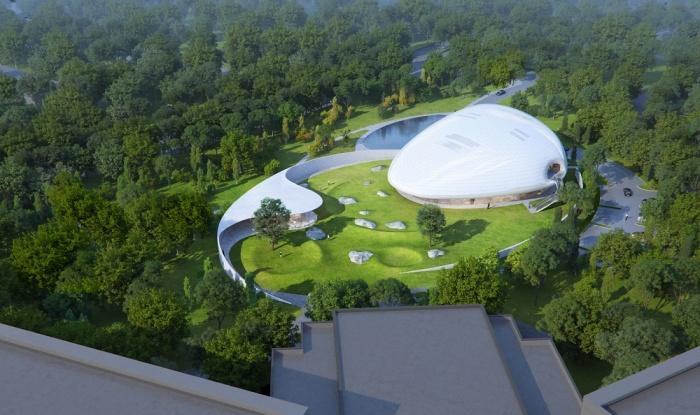 Вскоре в природной зоне Араньи появится новый культурный центр (концепт Aranya Cloud Center). | Фото: i-mad.com.