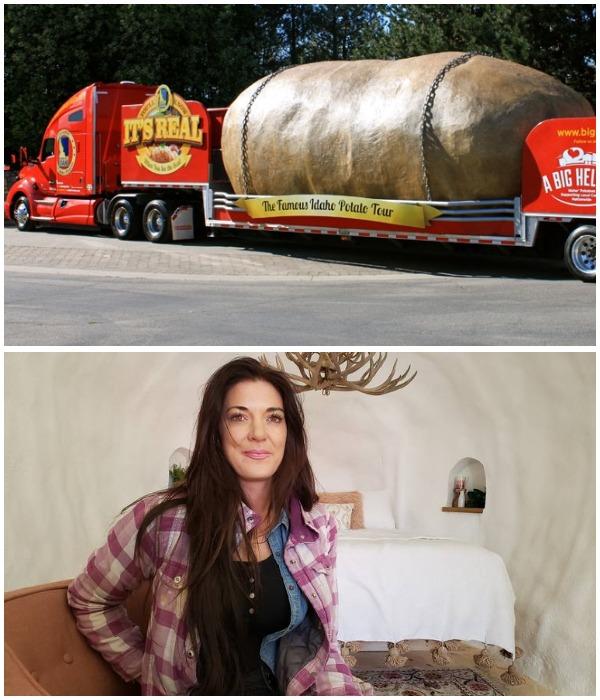Рекламный реквизит вдохновил Кристи Вулф на создание оригинального мини-отеля Big Idaho Potato Hotel (США).