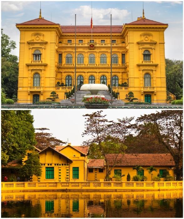 Президентский дворец является одной из самых ярких и элегантных достопримечательностей современного Ханоя (Вьетнам).
