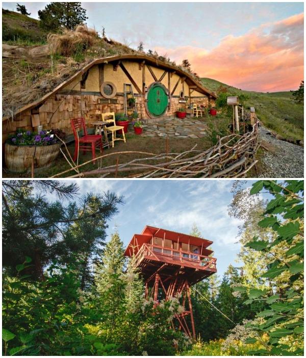 Кристи Вулф уже воплотила две своих мечты – она построила домик на дереве и обзавелась «норой хоббита».