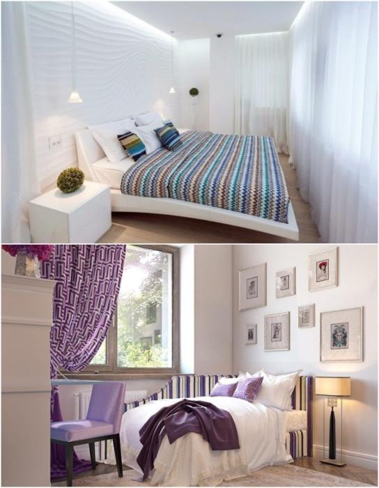 Чем меньше спальня, тем компактней должна быть кровать.