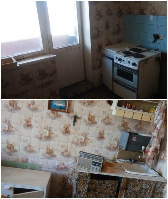 Так выглядела кухня до преобразования.