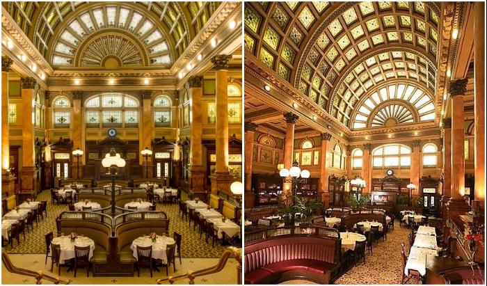 Помпезный железнодорожный вокзал 1898 г. постройки превратили в роскошный ресторан (Питтсбург, США).