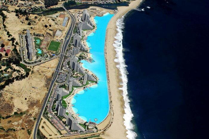 В Чили построили самый большой бассейн в мире имея на то веские причины (San Alfonso del Mar, Альгарробо). | Фото: xorolik.livejournal.com.