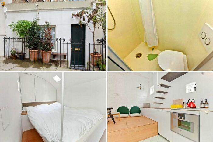 В пролете между старинными домами на Ричмонд-авеню находится микро-дом, который продали за 450 тыс. дол. (Лондон, Великобритания).