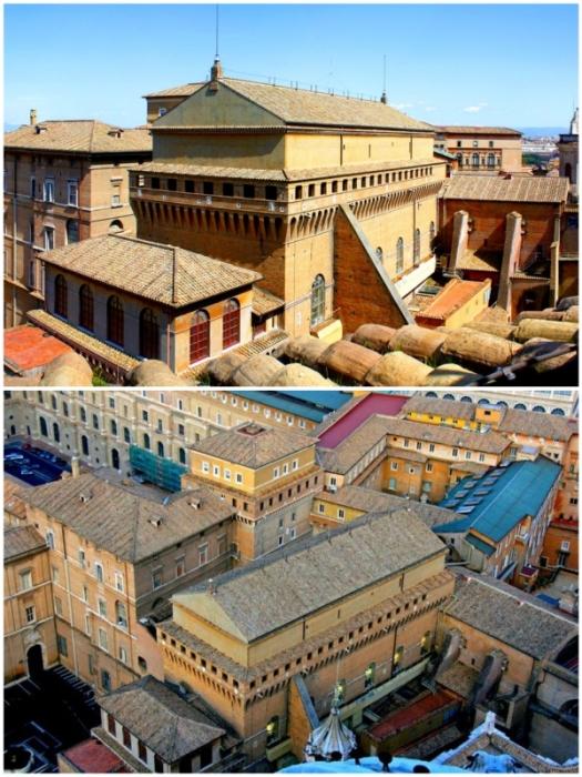 За этими скромными стенами прячется «Золотой фонд» мирового искусства (Сикстинская капелла, Ватикан).