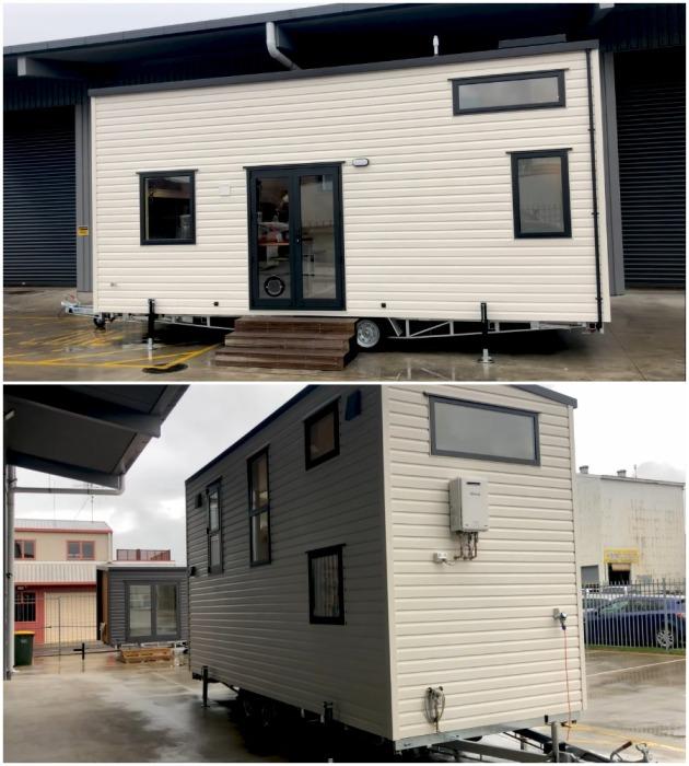 Новозеландские специалисты создали компактный мобильный дом с широкими возможностями и стильным интерьером (модель The River Bank's).