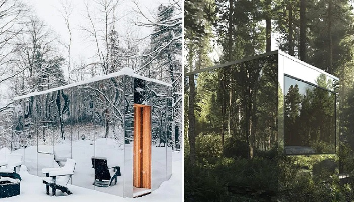 Зеркальный домик Arcana — это своеобразное приглашение вернуть человечество в дикую природу (Онтарио, Канада).