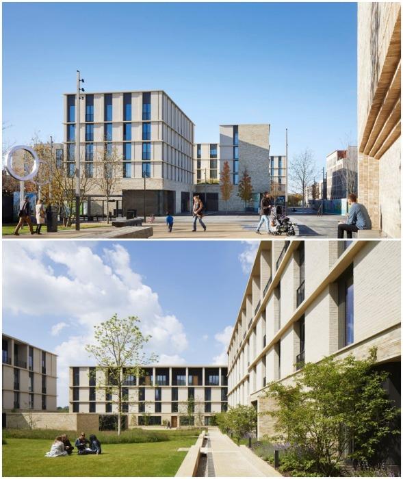Сеть общественных помещений, обрамленных 10 новыми зданиями, образует сердце нового района, созданного для сотрудников Кембриджского университета (Великобритания).