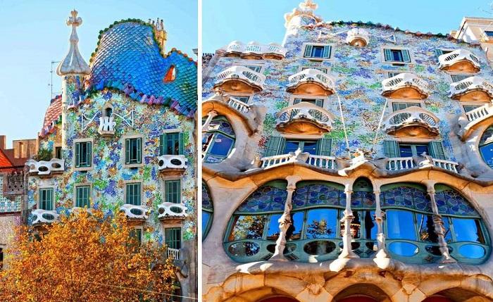 Красочно-причудливой формы дом Бальо (Casa Batllo) внесен во Всемирный список ЮНЕСКО. | Фото: smoliakfoto.com.
