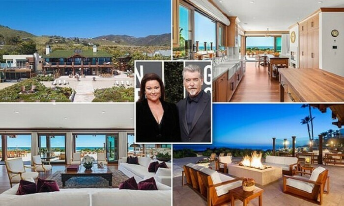 Пирс Броснан с супругой Кили Шэй Смит выставили на продажу свой особняк, расположенный на берегу Тихого океана. | Фото: m.fishki.net.