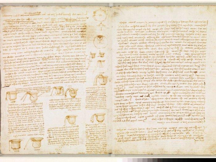 В библиотеке у Билла Гейтса хранится уникальная рукопись Леонардо да Винчи (фрагмент рукописи Codex Leicester). | Фото: bigpicture.ru.