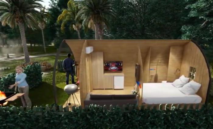 Такая конструкция может стать идеальным дачным домиком для небольшой семьи. | Фото: youtube.com.