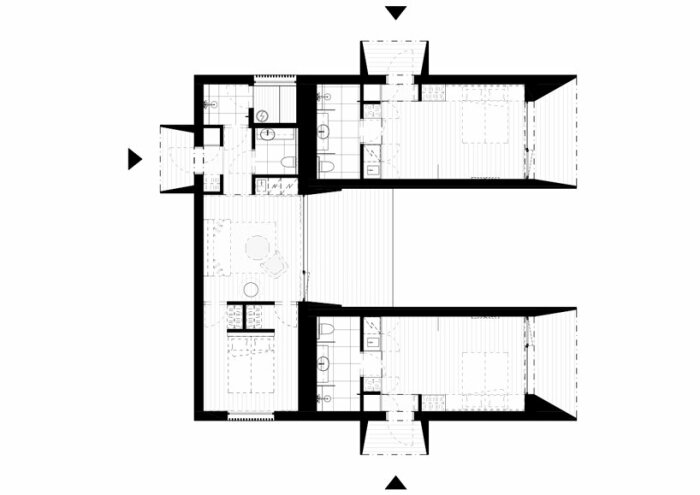 Типичный план модульного блока от компании Studio Puisto (Uni Villas, Финляндия). | Фото: newsontechnology.org.