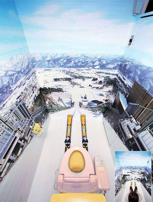 Креативный дизайна туалета – к спуску всё готово!