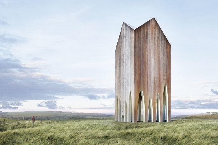 Проект деревянного храма. | Фото: simeonn.livejournal.com.