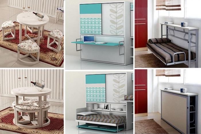 Виды трансформирующейся мебели. | Фото: liveinternet.ru.