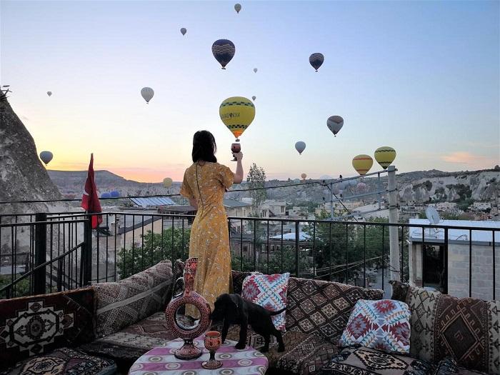 Открытая терраса – прекрасное место отдыха отеле Fairy Chimney Inn(Турция).