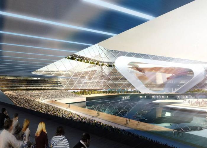 В некоторых секциях организуют стадионы, концертные залы и гостинично-развлекательные центры (концепт «Eco Atlantis»). | Фото: vnews.agency.
