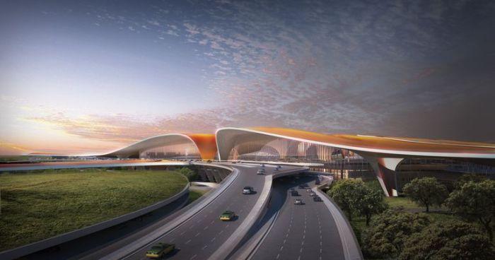 Аэропорт «Дасин» в Пекине сможет принимать 72 млн. пассажиров в год при максимальной нагрузке 100 млн. | Фото: unian.net.