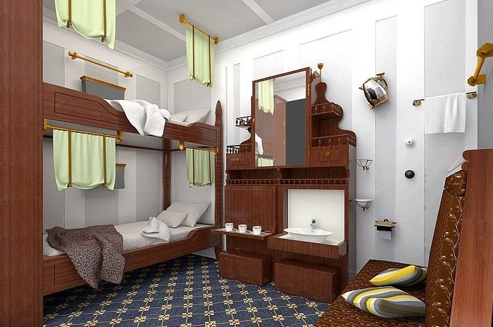 Каюта для пассажиров третьего класса («Титаник II»).