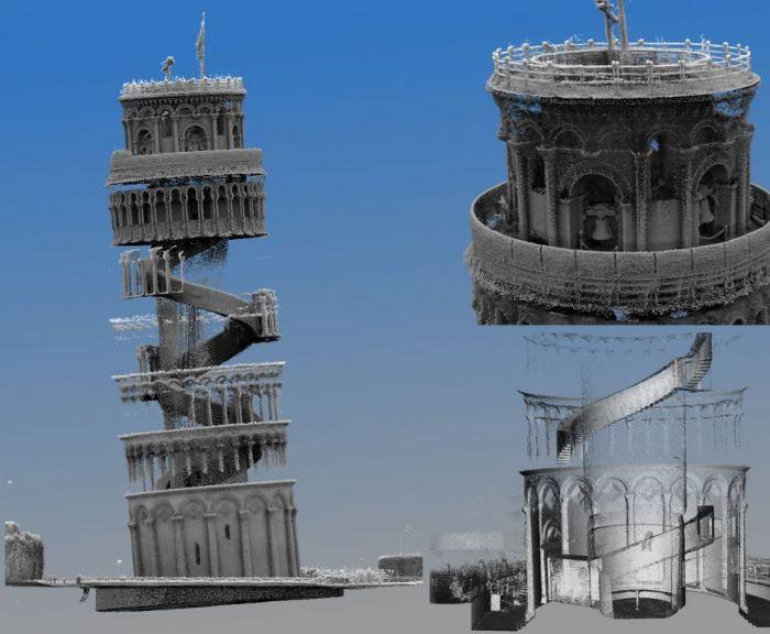 Макет Пизанской башни (Torre pendente di Pisa). | Фото: pikabu.ru.