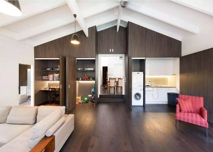 Как оформить многофункциональную квартиру в стиле лофт с помощью модулей.