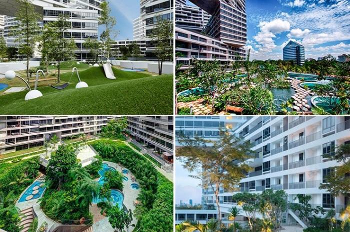 Наличие общих зон отдыха и развлечений призваны поднять уровень социального взаимодействия (ЖК «Interlace», Сингапур). | Фото: mirinteresen.net.