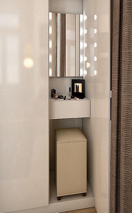 Маленький будуар для сногсшибательных превращений.