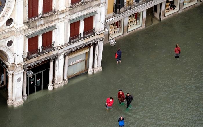 Затоплено 70% территории Венеции.