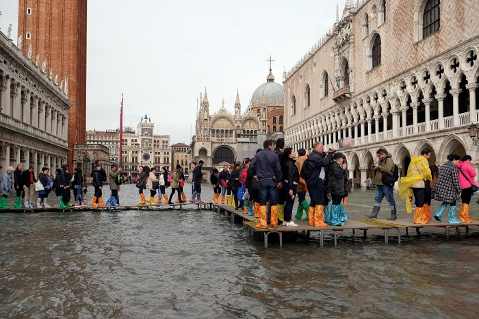 Ливни и сильный шторм стали причиной подтопления Венеции.