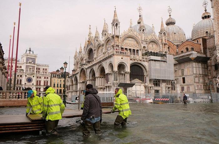 Венеция ушла под воду.