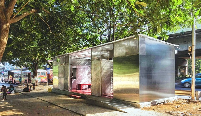 Общественный туалет в индийском городе Тейн (проект архитектора Рохана Чавана). | Фото: news.21.by.
