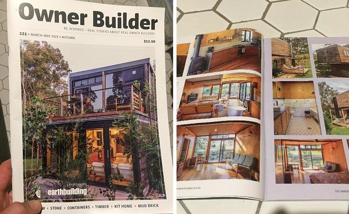 Об интересном преобразовании контейнеров в жилой дом написали в журнале.