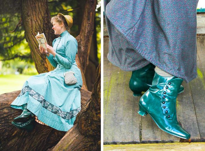И даже ботиночки такие, как носили леди в конце XIX века. | Фото: pikabu.ru.