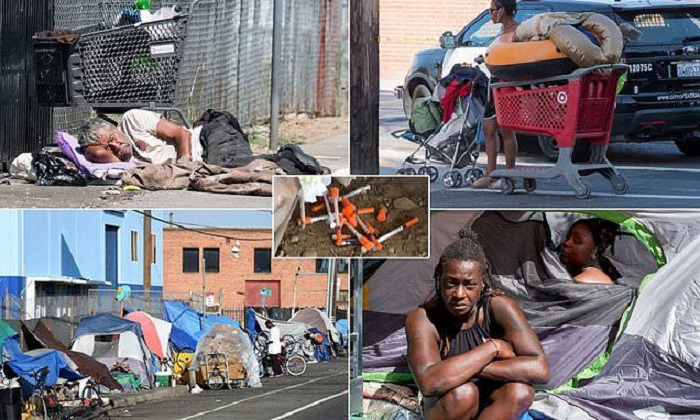 Калифорния лидирует по количеству бездомных (США). | Фото: pikabu.ru.