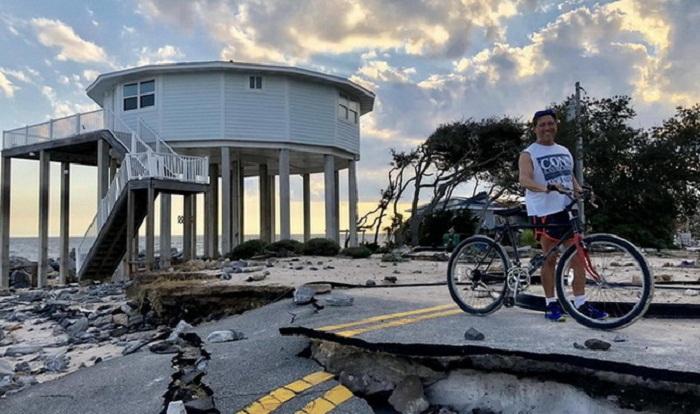Круглые дома стали спасательным кругом во время урагана Дориан на Багамских островах и не только (дом производства Deltec). | Фото: pikabu.ru.