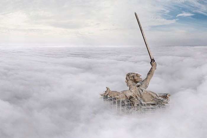 Впечатляющая аэрофотосъемка («Родина-мать зовет!», Волгоград). | Фото: pikabu.ru.