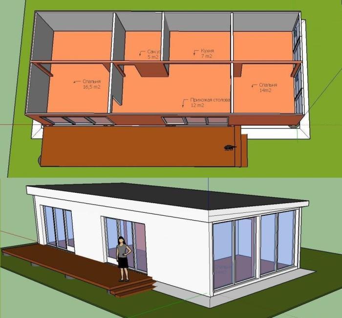 Изначальный план строительства дома из контейнеров. | Фото: pikabu.ru.