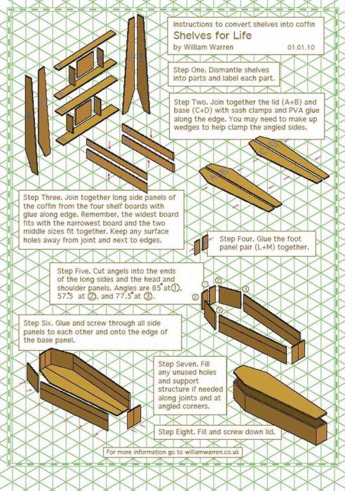Для всех заинтересовавшихся, автор идеи высылает точные чертежи книжного шкафа-трансформера. | Фото: buro247.ua.